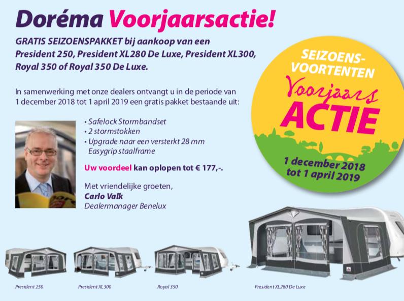 Dorema Voortent Actie 2019