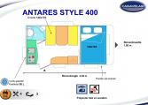 2020 Caravelair Antares Style 400 caravan indeling