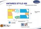 2020 Caravelair Antares Style 450 caravan indeling