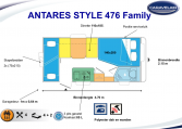 2020 Caravelair Antares Style 476 Family caravan indeling