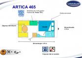 2020 Caravelair Artica 465 caravan indeling