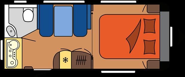 2020 Hobby Caravan Excellent 460 SFf dagindeling
