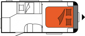 2020 Hobby Caravan Excellent 460 SFf nachtindeling