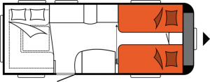 2020 Hobby Caravan Excellent 540 UL nachtindeling