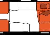 2020 Hobby Caravan Excellent 560 LU nachtindeling