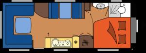 2020 Hobby Caravan Excellent 650 UMFe dagindeling