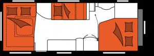 2020 Hobby Caravan Excellent 650 UMFe nachtindeling