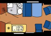 2020 Hobby Camper Optima De Luxe T65 GE dagindeling