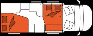 2020 Hobby Camper Optima De Luxe T65 HFL nachtindeling