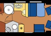 2020 Hobby Camper Optima De Luxe T70 GE dagindeling