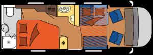 2020 Hobby Camper Optima De Luxe T75 HF dagindeling