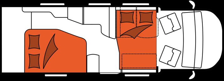 2020 Hobby Camper Optima De Luxe T75 HF nachtindeling