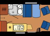 2020 Hobby Camper Optima OnTour Edition V65 GE dagindeling