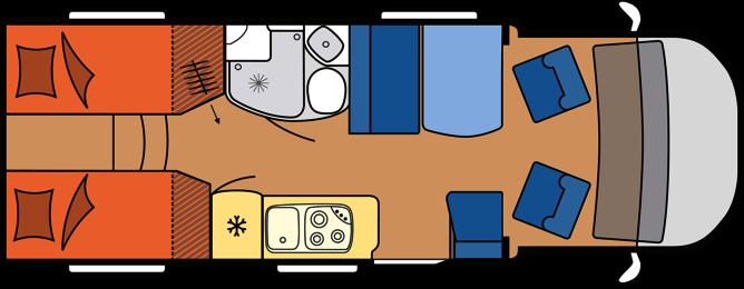 2020 Hobby Camper Optima Premium T65 GE dagindeling