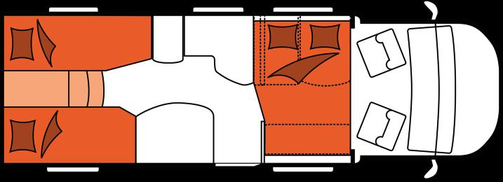2020 Hobby Camper Optima Premium T75 HGE nachtindeling