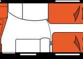 2020 Hobby Premium 495 UL Caravan nachtindeling