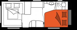 2020 Hobby Premium 560 CFe Caravan nachtindeling
