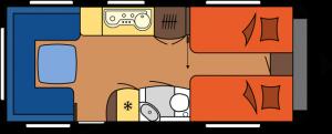 2020 Hobby Premium 560 UL Caravan dagindeling