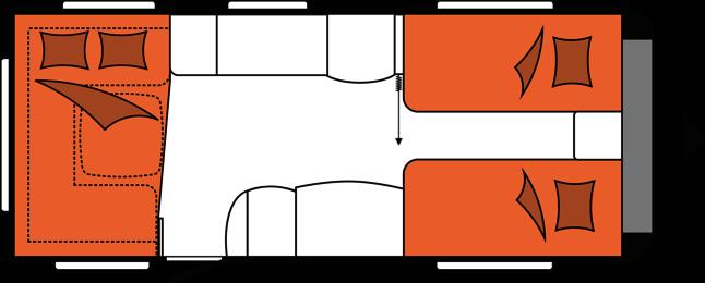 2020 Hobby Premium 560 UL Caravan nachtindeling