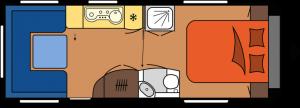 2020 Hobby Premium 650 UFf Caravan dagindeling