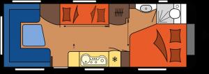 2020 Hobby Premium 650 UKFe Caravan dagindeling