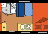 2020 Hobby Camper Optima Siesta De Luxe A60 GF dagindeling
