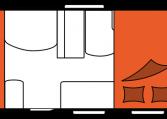 2020 Hobby Camper Optima Siesta De Luxe A60 GF nachtindeling