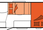 2020 Hobby Camper Optima Siesta De Luxe A65 GM nachtindeling