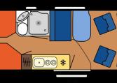 2020 Hobby Buscamper Vantana OnTour K65 ET dagindeling