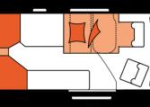 2020 Hobby Buscamper Vantana Premium K65 ET nachtindeling