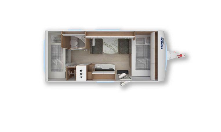 2020 Fendt Opal 515 skf caravan indeling