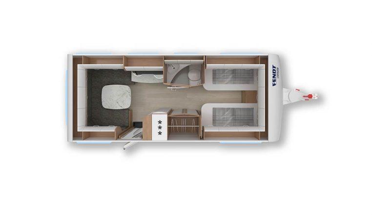 2020 Fendt Opal 550 sg caravan indeling