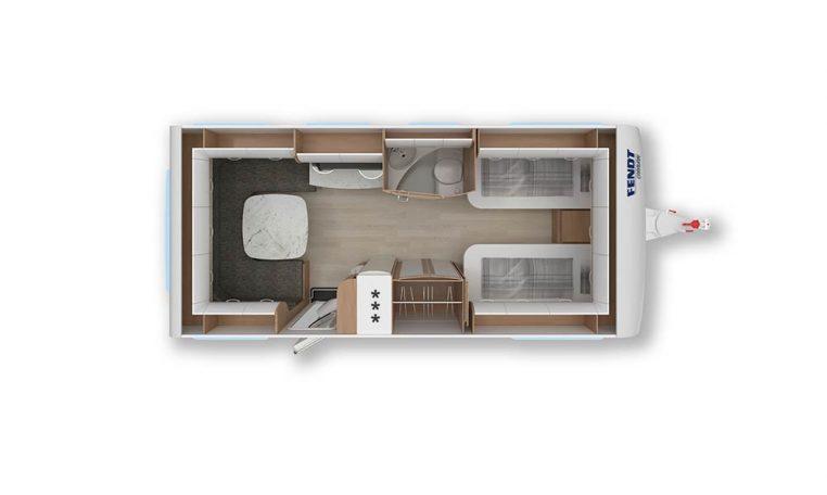 2020 Fendt Opal 560 sg caravan indeling
