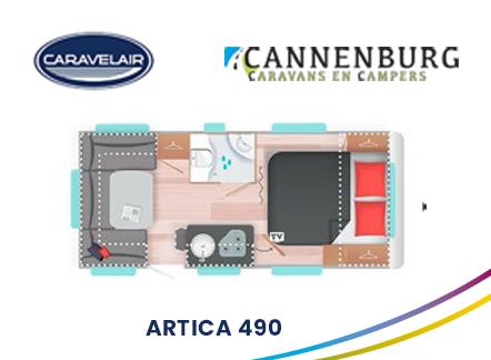 cannenburg plattegrond Artica 490 2021