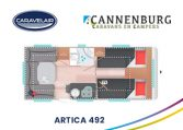 cannenburg plattegrond Artica 492 2021