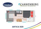 cannenburg plattegrond Artica 520 2021
