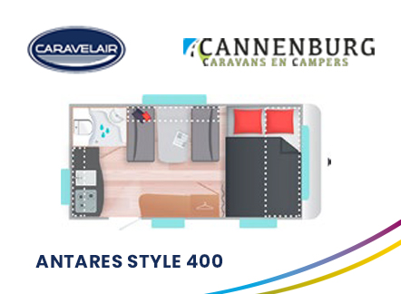 cannenburg plattegrond caravelair antares style 400 2021 2