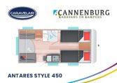 cannenburg plattegrond caravelair antares style 450 2021