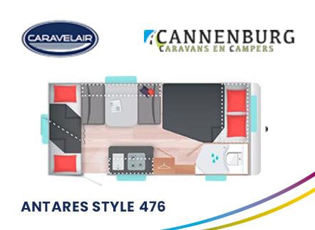 cannenburg plattegrond caravelair antares style 476 2021