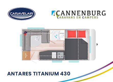 caravelair Antares Titanium 430 plattegrond 2021