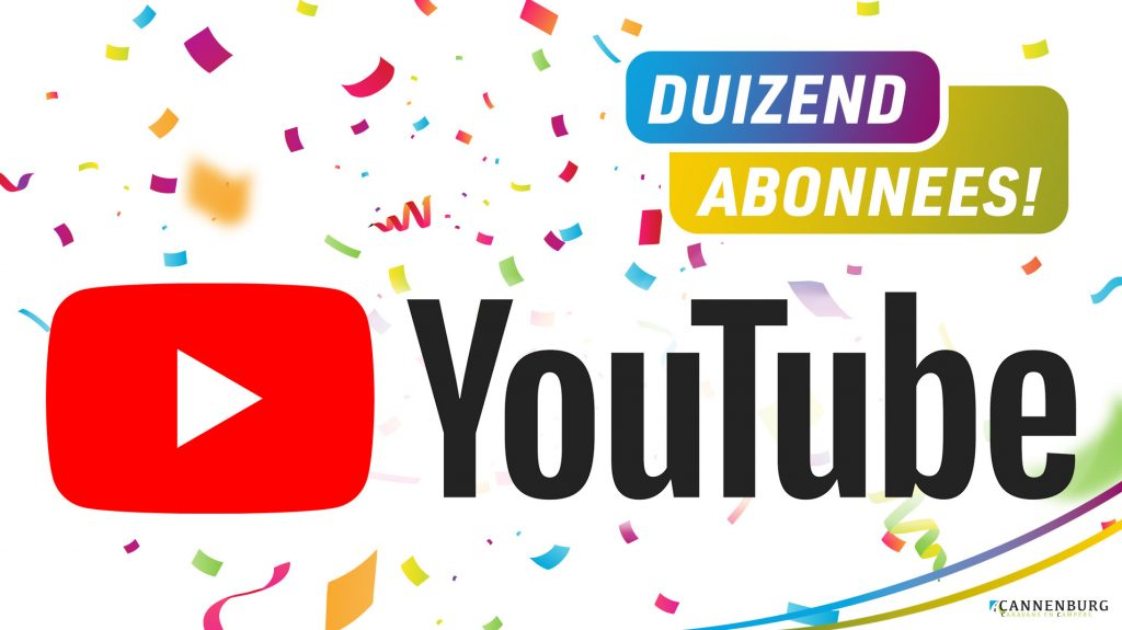 Youtube 1000 abonnees Cannenburg
