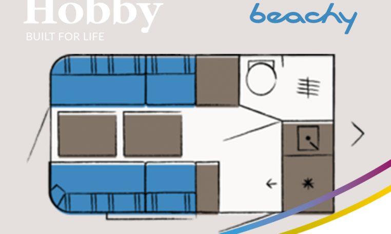 Hobby Beachy 360 model 2021 plattegrond