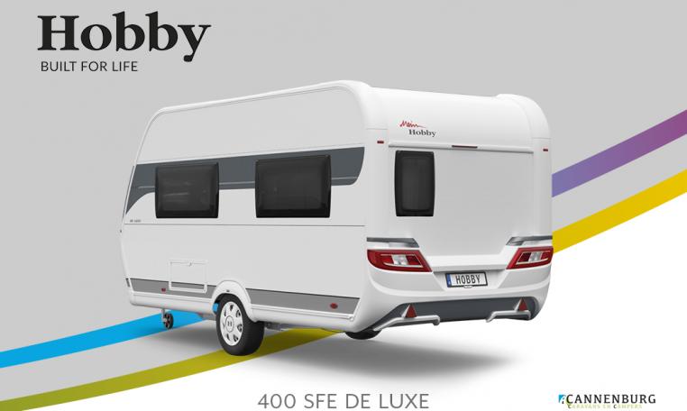 Hobby De Luxe 400 SFe model 2022 Cannenburg Back