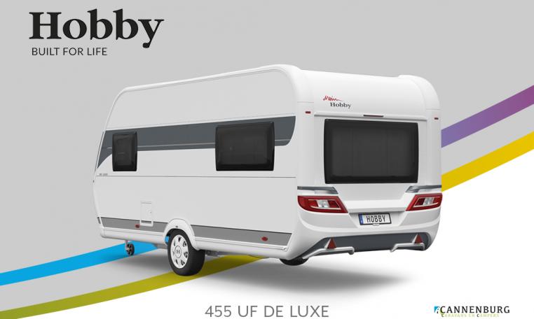 Hobby De Luxe 455 UF model 2022 Cannenburg Back