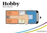 Hobby De Luxe 460 LU model 2022 Cannenburg Plattegrond