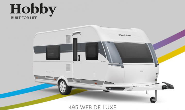 Hobby De Luxe 495 WFB model 2022 Cannenburg Front