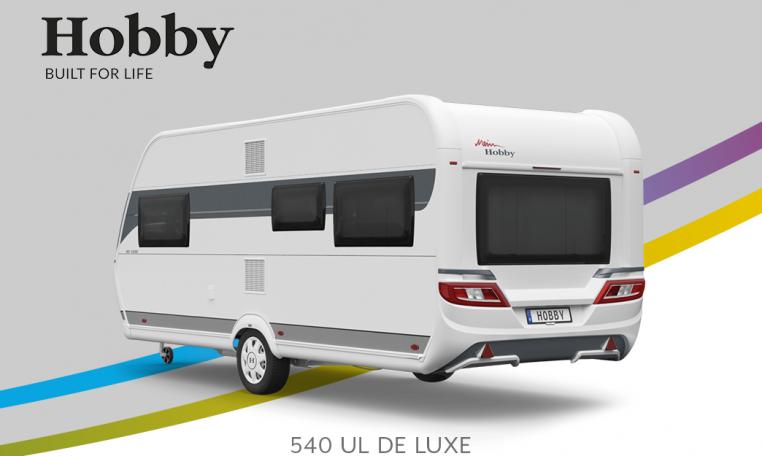 Hobby De Luxe 540 UL model 2022 Cannenburg Back Buitenkant