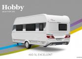Hobby Excellent 460 SL model 2022 Cannenburg Back buitenkant