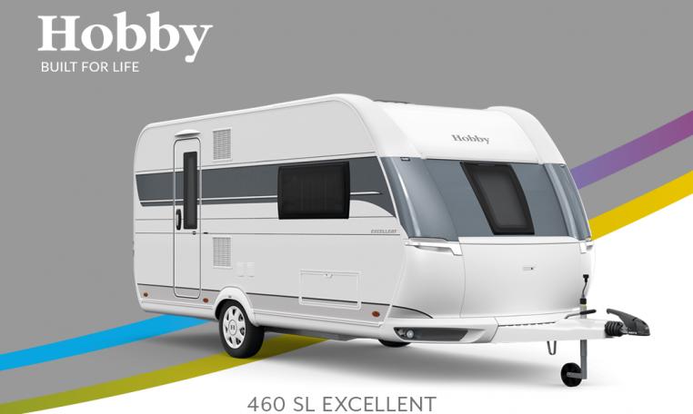 Hobby Excellent 460 SL model 2022 Cannenburg Front buitenkant