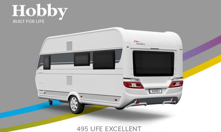 Hobby Excellent 495 UFe model 2022 Cannenburg Back buitenkant